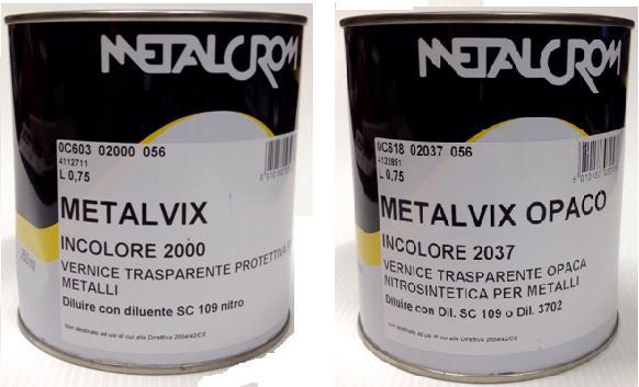 VERNICE METALCROM INCOLORE METALVIX TRASPARENTE PER METALLI  eBay