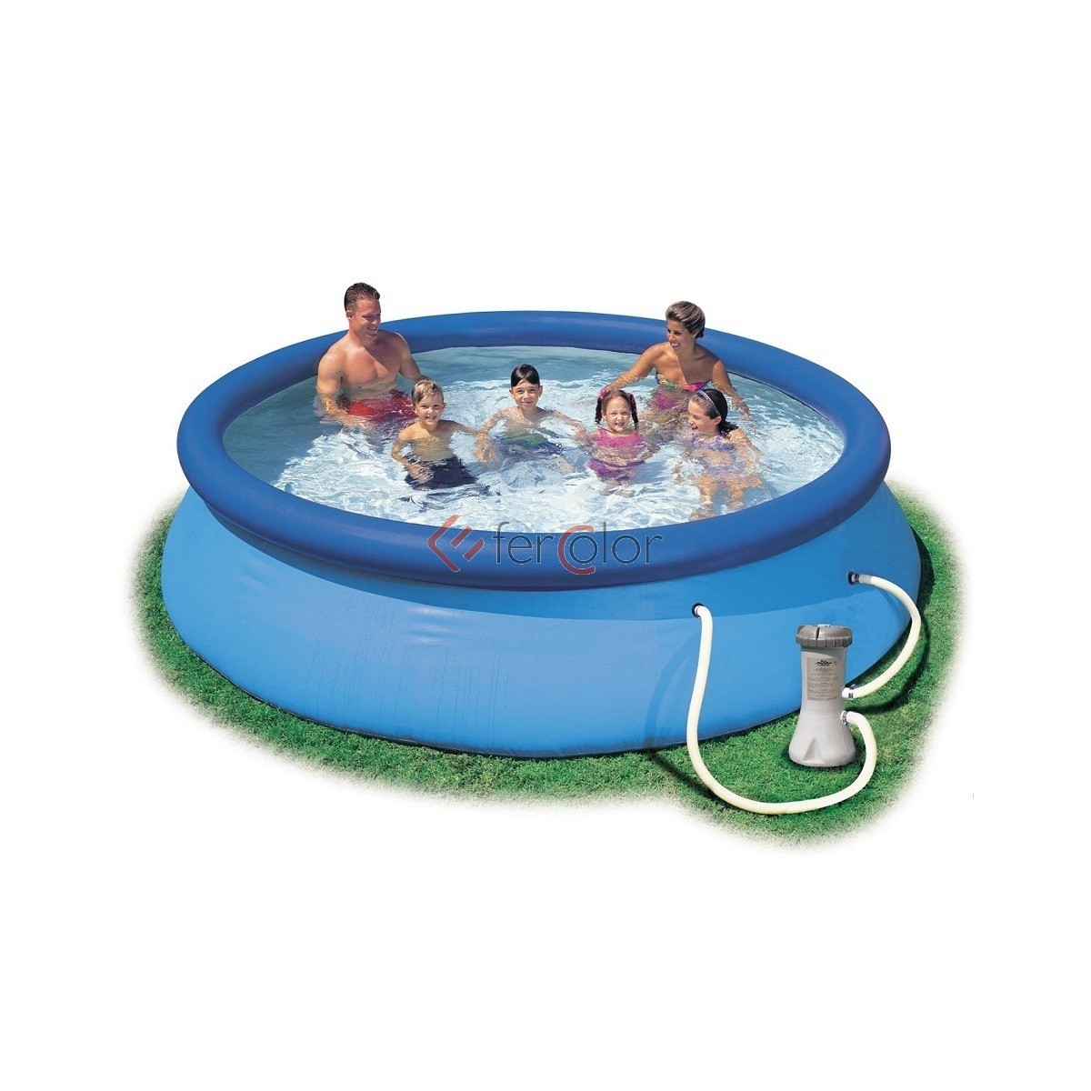 Piscina intex easy set 366x76 tonda con pompa filtro for Filtro piscina intex