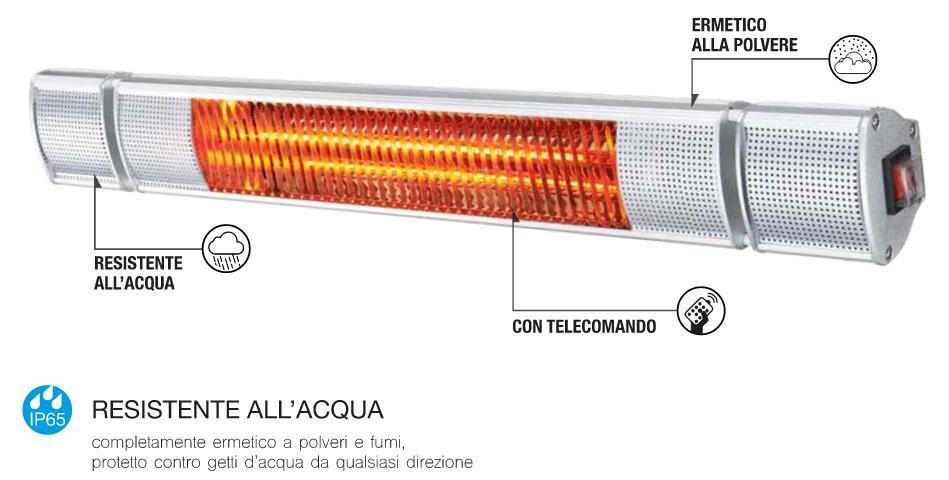 Stufa a infrarossi da interno esterno cfg sole oro 2000w for Stufa catalitica o infrarossi