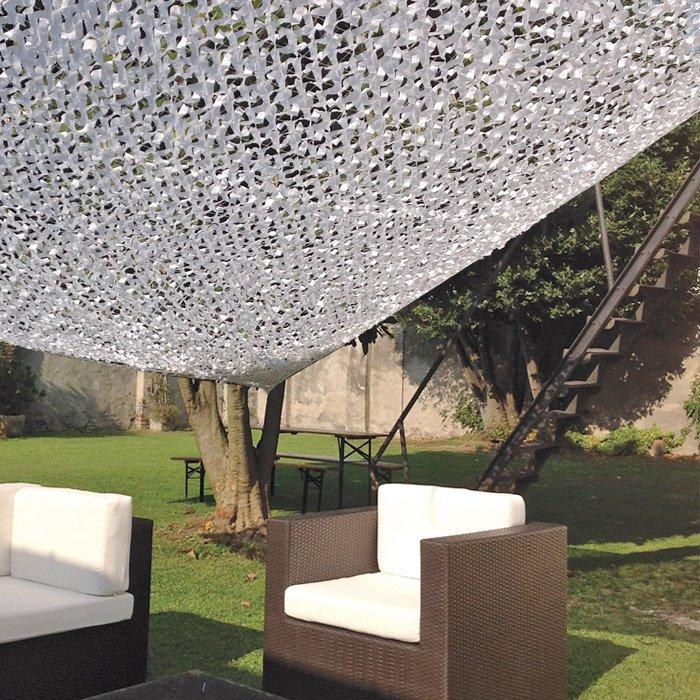 Tenda a vela rettangolare ombreggiante foglia bianca for Tenda a vela rettangolare